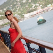 Portrait of Carin in St. Lucia