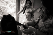 Black and White Bridal Preparation