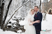 Winter Wedding portrait