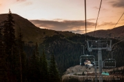 Chairlift at Sunset