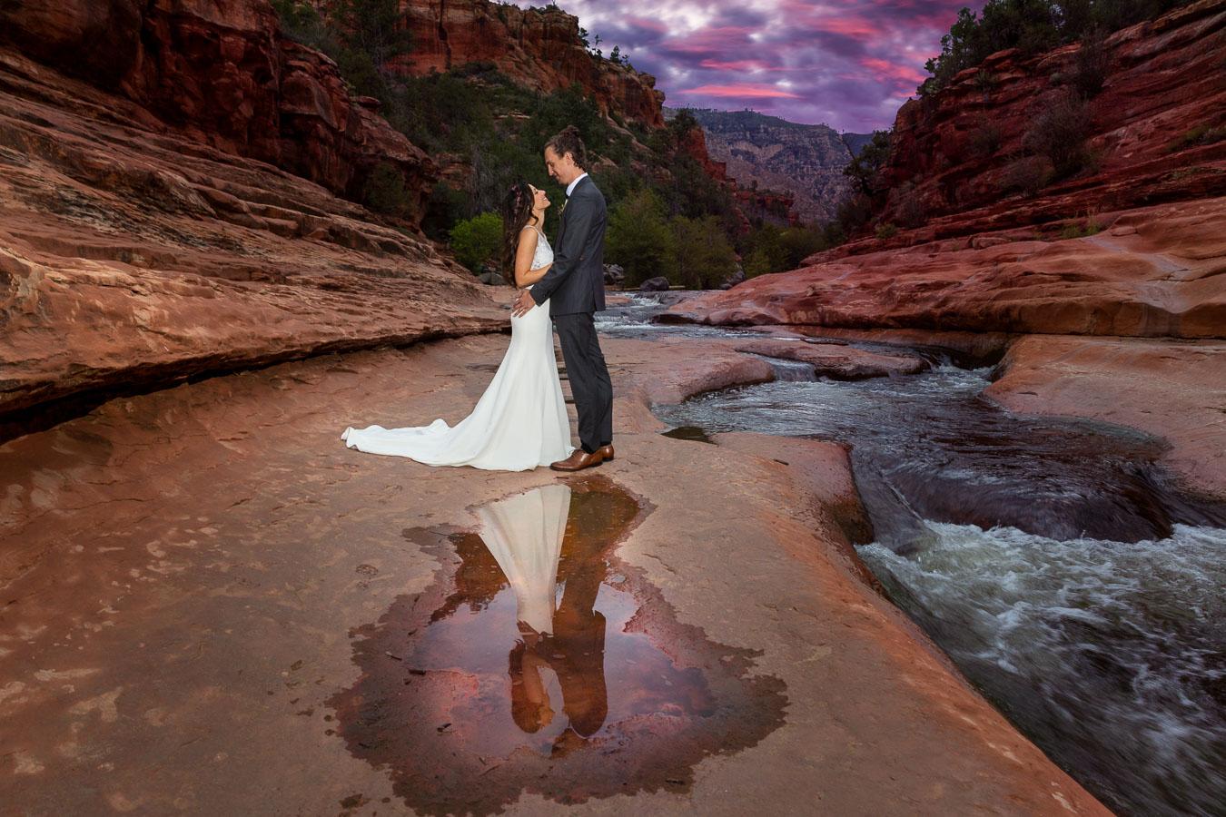 sedona wedding sunset