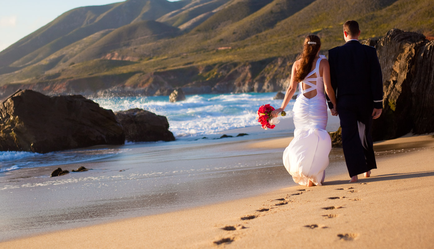 wedding beach big sur