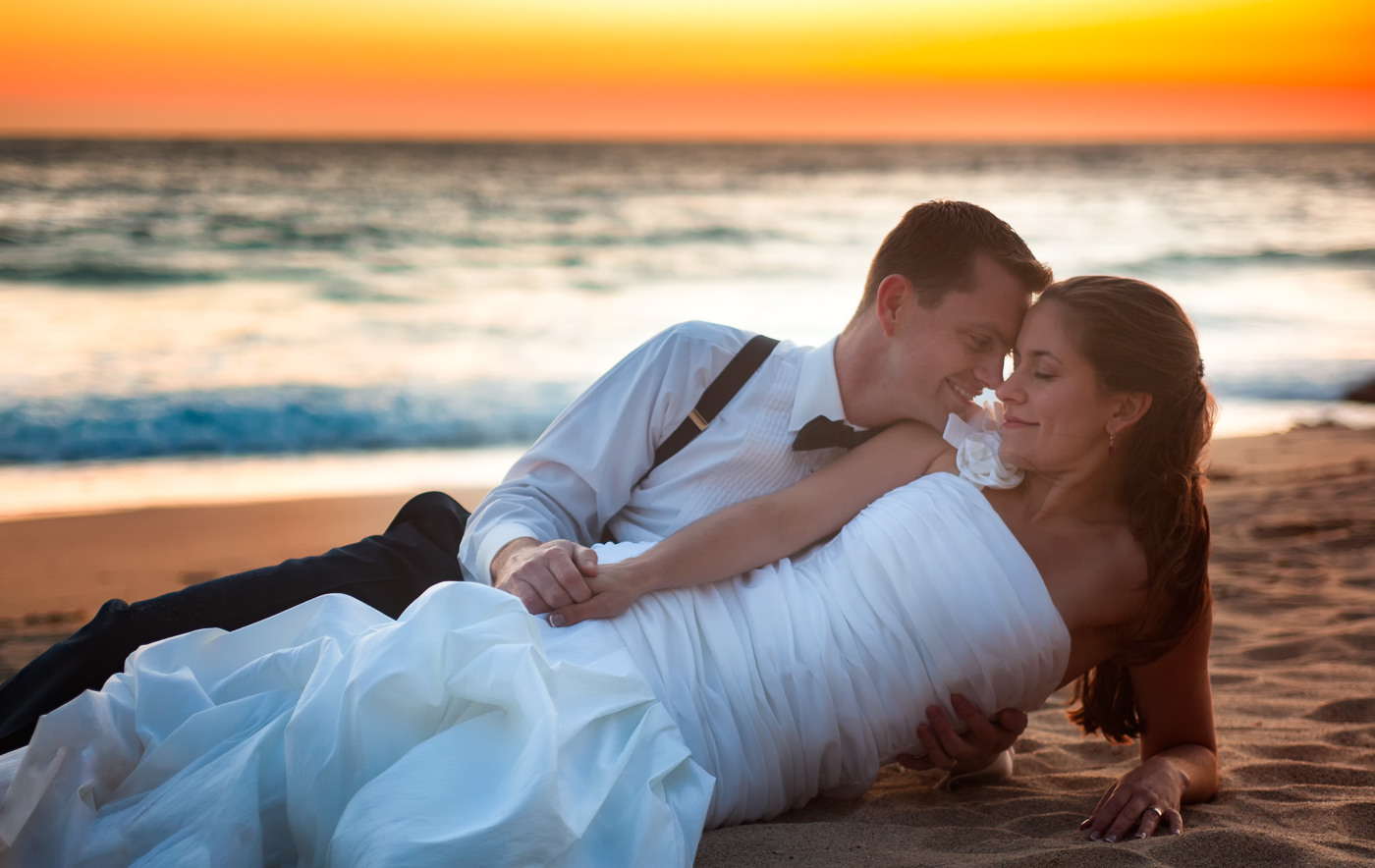 couple beach california