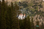 wedding party chairlift Arapahoe Basin