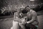 Brie and groom with dog