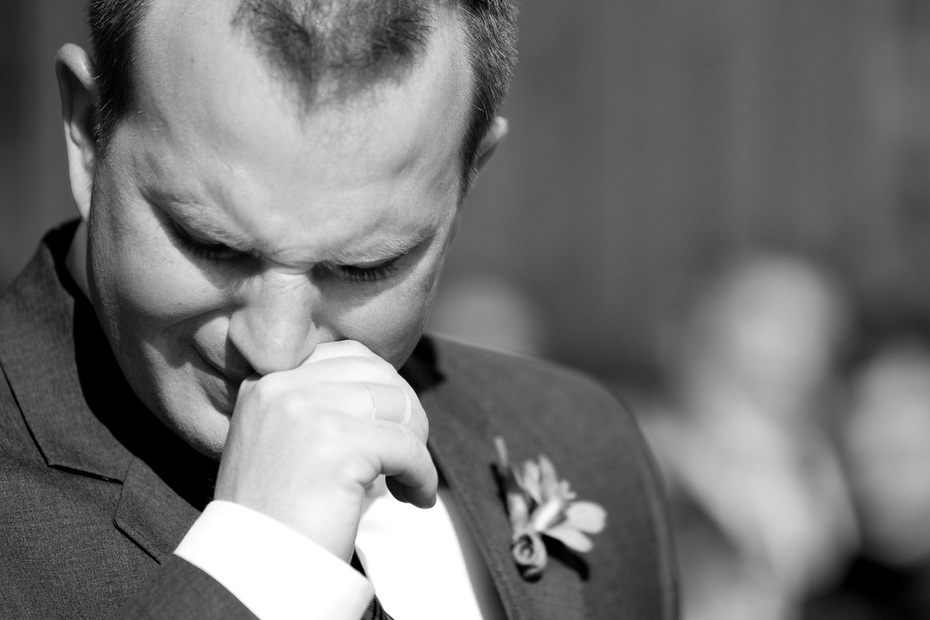 groom ceremony cry