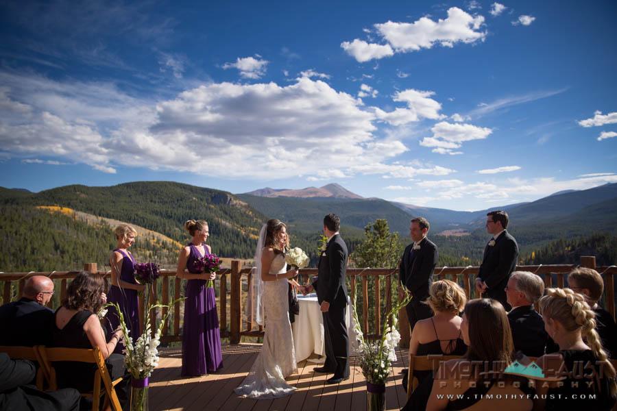 Wedding ceremony in Breckenridge