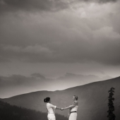 Clearing storm and newlyweds