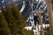 Couple Riding the Chairlift together