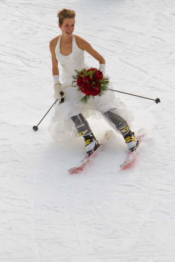 Bride Skiing in Colorado