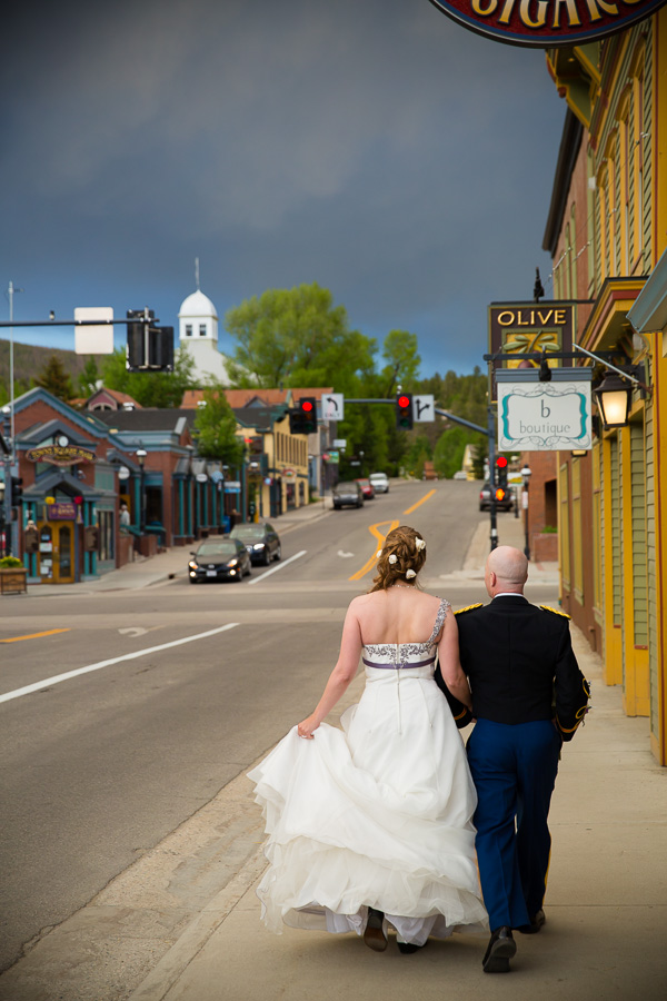 Newlyweds in Breckenridge, Colorado