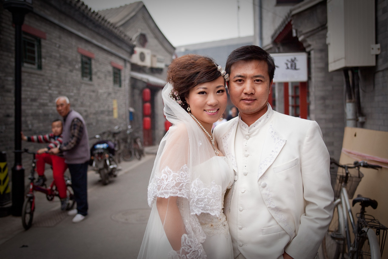 Newlyweds in Beijing, China