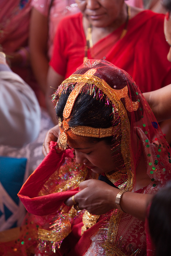 Bride in Dhulikel, Nepal
