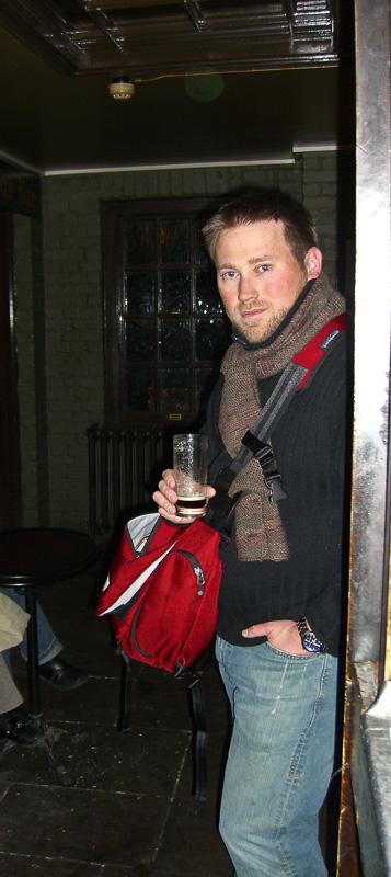 Timothy at one of the oldest pubs in London