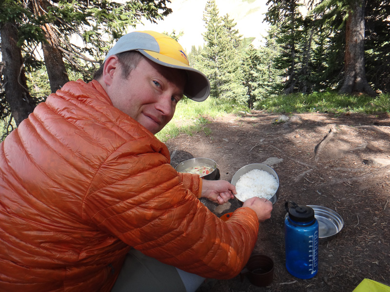 Timothy is a backcountry camping gourmet.