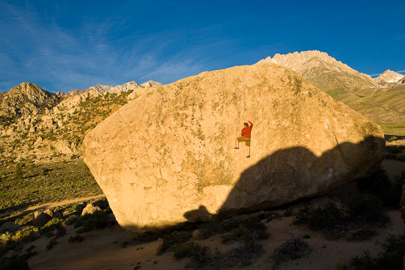 Rock climbing in the Buttermilks, Bishop, CA from Timothy's magazine photography