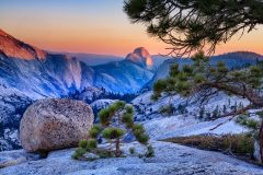 Half Dome Sunset from Olmsted Point