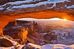 Winter Sunrise under Mesa Arch