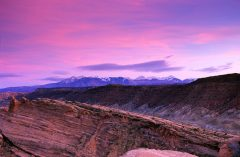La Sal Mountain Sunset