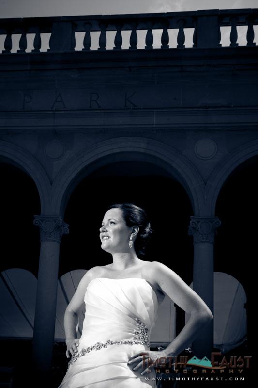 Bridal Portrait at Ault Park, Cincinnati