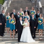 The wedding party at Ault Park, Cincinnati