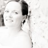 High key bridal portrait