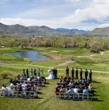 Wedding ceremony at Fossil Creek Golf Club