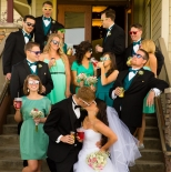 Casual photo of the bridal party
