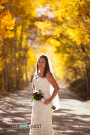 Bride in Fall Colors