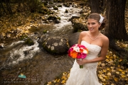 Bridal Portrait and fall colors in Beaver Creek, Colorado