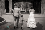 Bride, Groom, and son in Beaver Creek, Colorado