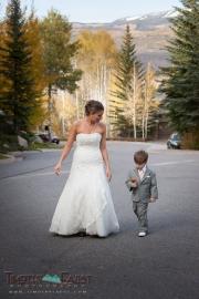 Bride and son