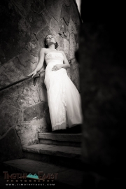 Abstract black and white Bridal portrait