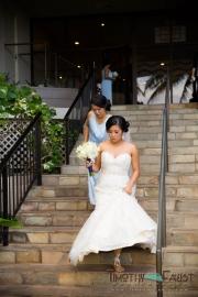 Bride leaving hotel