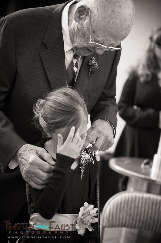 Flower girl and grandfather