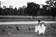 Mari and Grace black and white film Denver City Park