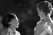 Mari and Grace's wedding ceremony at Denver City Park