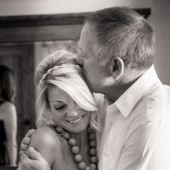 Father of the bride and his daughter