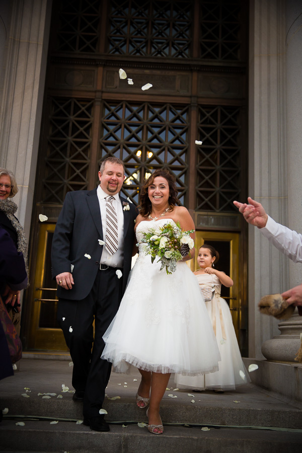 Newlyweds at Denver City Hall
