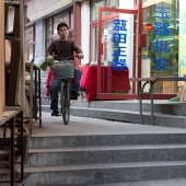 Man on Bicycle in Xian