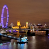 London Eye and Thames River in London