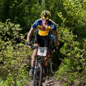Mountain biker in Teva Mountain Games