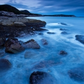 Blue Coastline in Acadia National Park in Maine