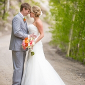 We used open shade to create beautiful soft light on the couple.