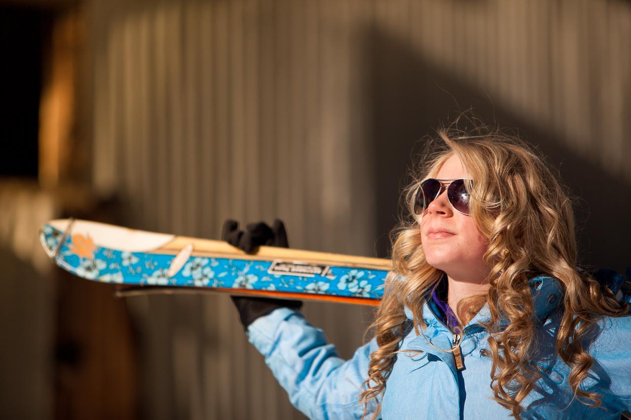 Ski inspired senior portrait