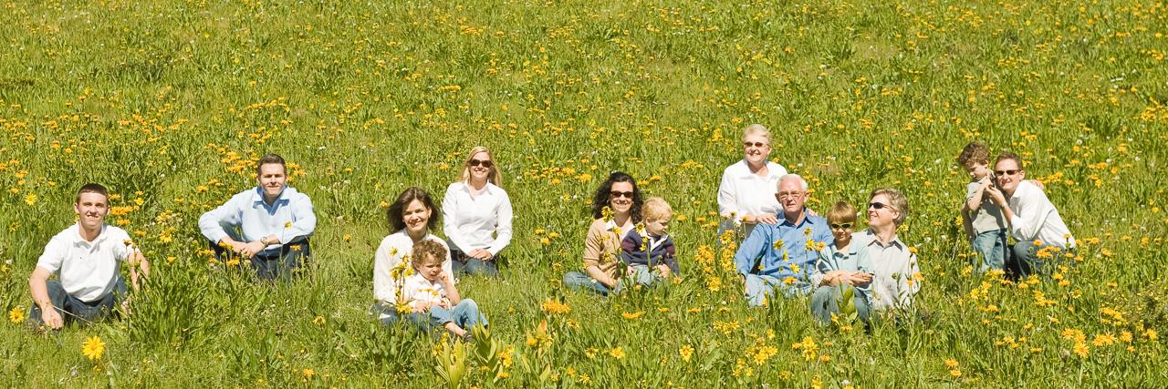 Outdoor family portrait in Breckenridge