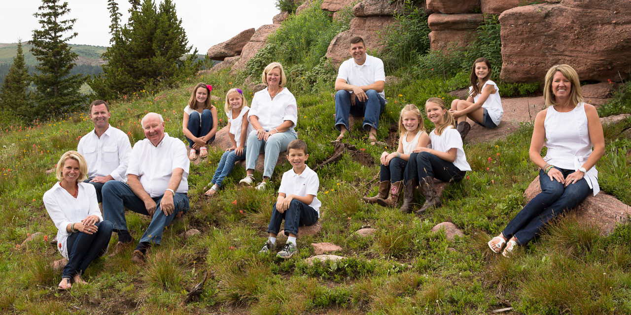 Family portrait session in Vail, Colorado