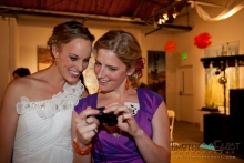 Bride and best friend at reception