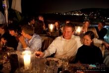 Reception at Laguna Beach at sunset