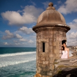 Portrait at the wall in Old San Juan, Puerto Rico